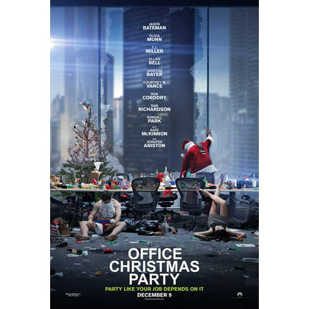 Office Christmas Party 2016 27x40 Movie Poster Walmartcom