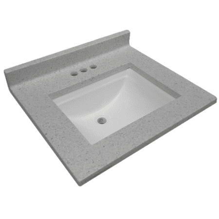 Design House 563528 Cultured Marble Single Wave Bowl Vanity Top 25x22, Frost