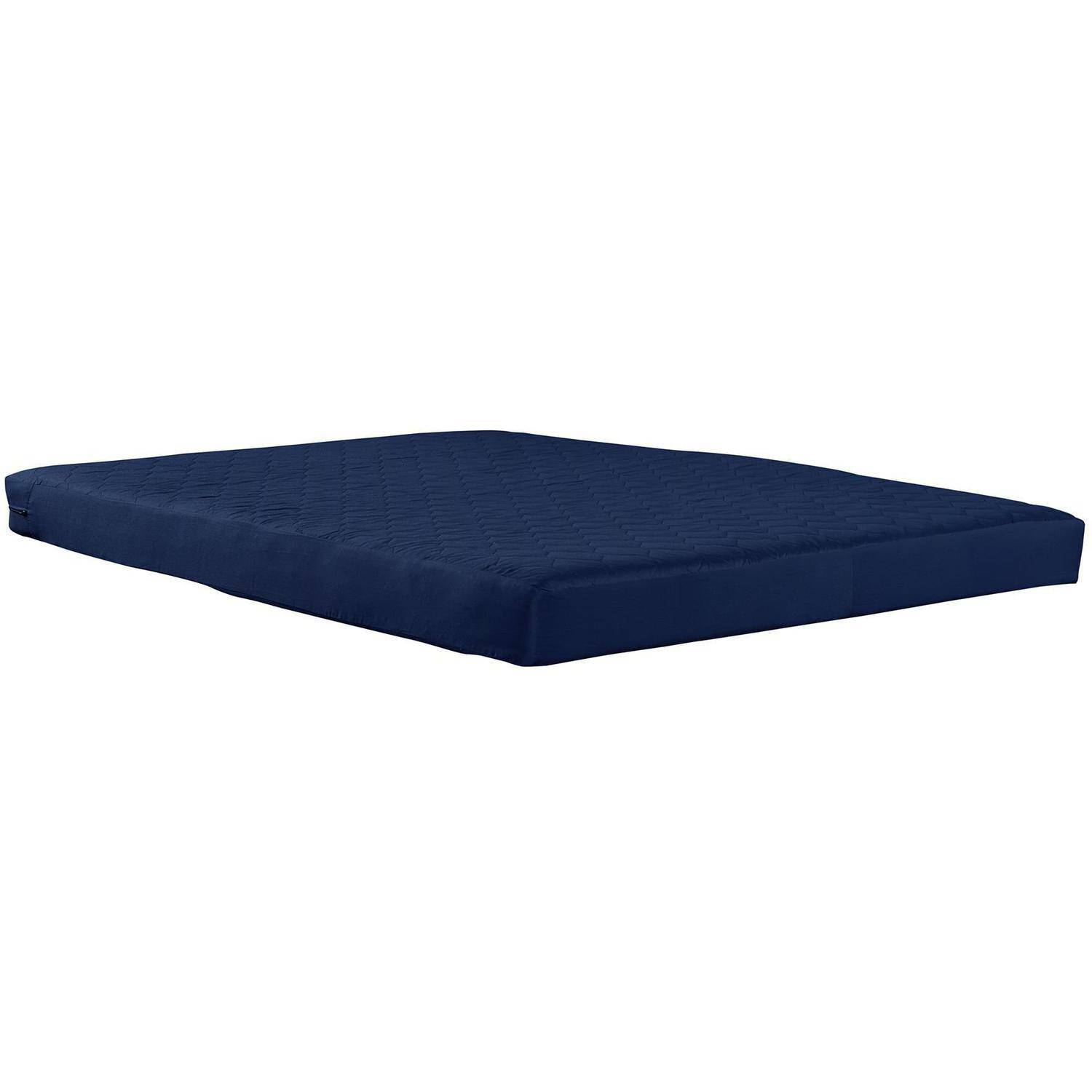 """Dorel Home 6"""" Full Quilted Top Bunk Bed Mattress, Navy"""