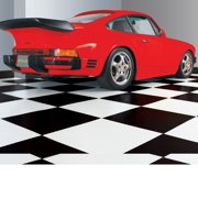 """G-Floor RaceDay Peel and Stick Tile with PSA - 95 Mil Levant 24"""" x 24"""" Midnight Black 10-Pack"""