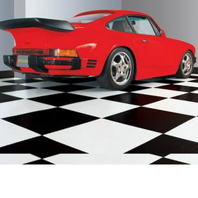G-Floor RaceDay Levant 12 x 12 Peel and Stick Tile in Slate Grey Set of 20