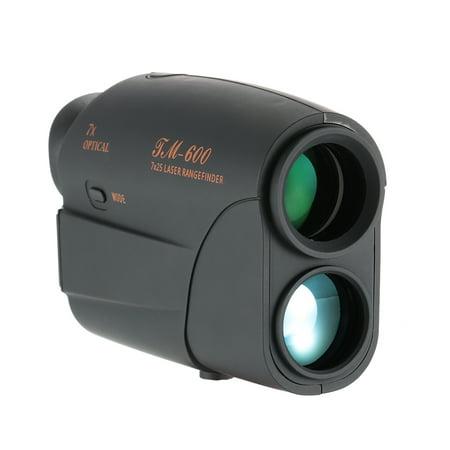 Outdoor Compact 7X25 Rangefinder 600m Range Finder Golf Rangefinder Monocular Telescope Distance Meter Speed Tester ()