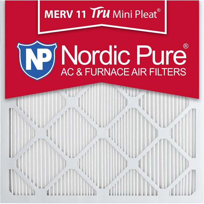 Nordic Pure 24x24x1 MERV 10 Pleated AC Furnace Air Filters 6 Pack