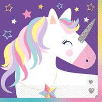 Starry Rainbow Unicorn Paper Luncheon Napkins, 6.5 in, 16ct