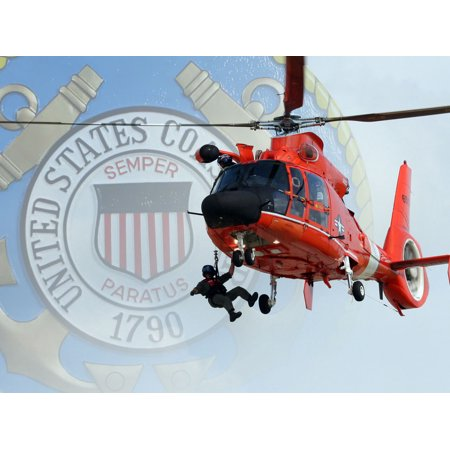 Guard Emblem - United States Coast Guard Emblem Logo Cake Topper Edible Image 1/4 Sheet
