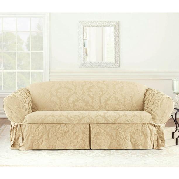 Fit Matele Damask Sofa Slipcover