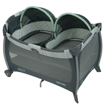 Graco Pack 'n Play Playard with Twin Bassinets, Mason