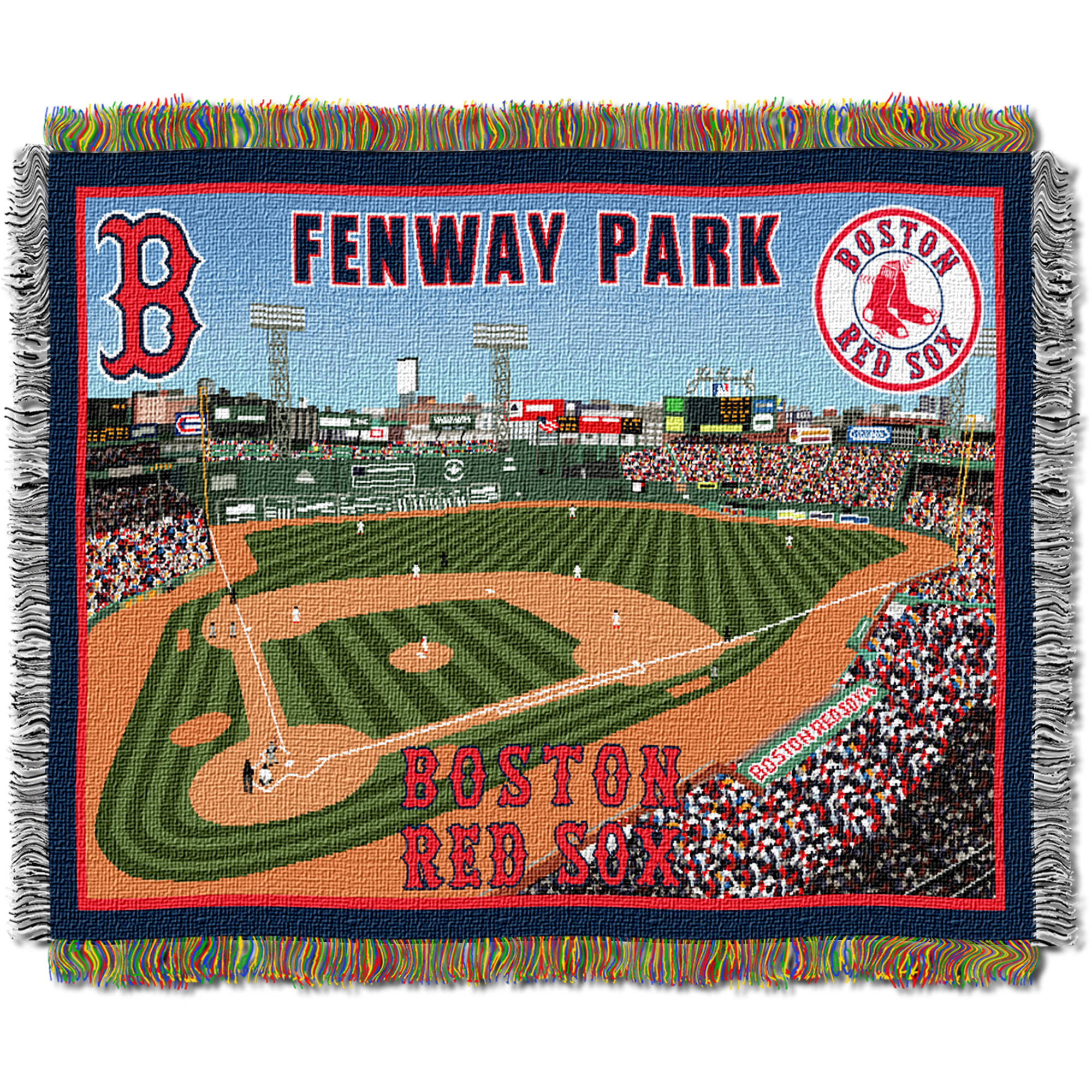 "MLB 48"" x 60"" Stadium Series Tapestry Throw, Boston Red Sox Fenway Park"