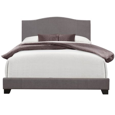 Pulaski Camel Back Upholstered Queen Panel Bed In Cement