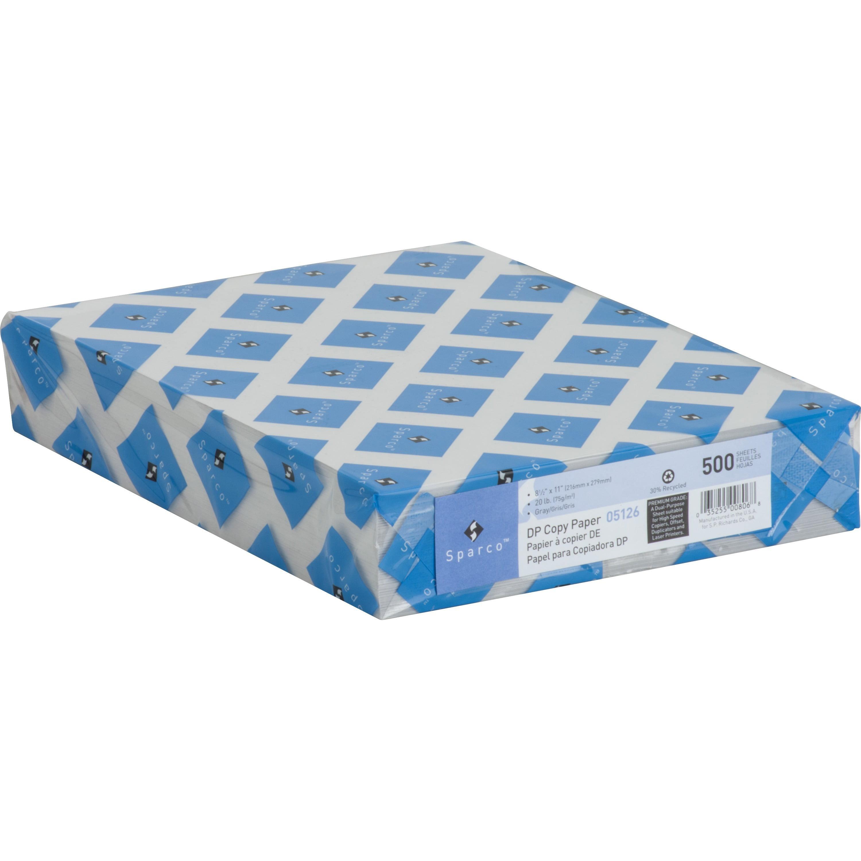 Sparco, SPR05126, Premium Grade Pastel Color Copy Paper, Gray