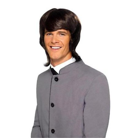 60's Male Mod Costume Wig Adult: Brown