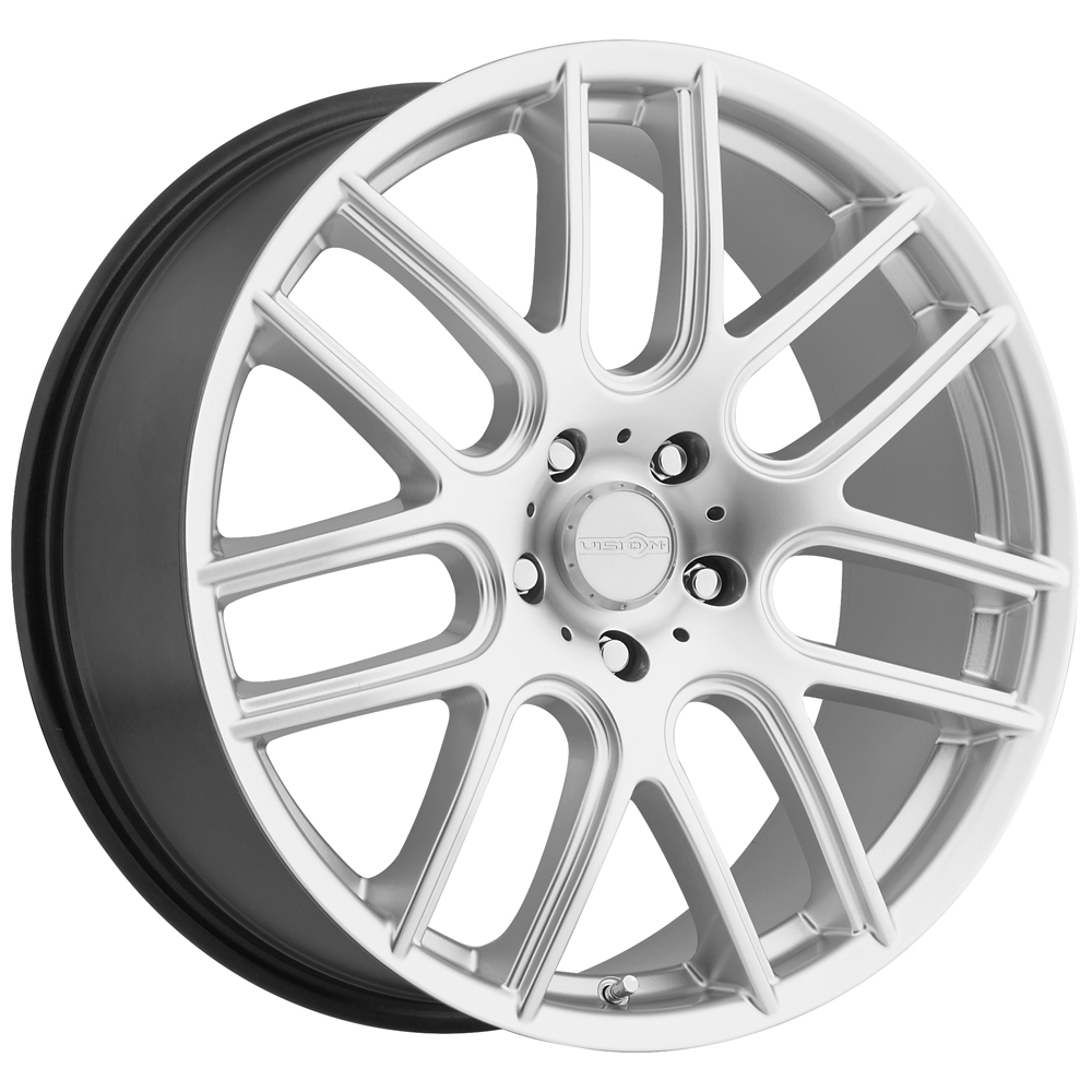 "18"" Inch Vision 426 Cross 18x8 5x112 +45mm Hyper Silver Wheel Rim"
