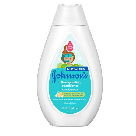 Johnson's Ultra-Hydrating Tear-Free Kids' Conditioner, 13.6 fl. oz