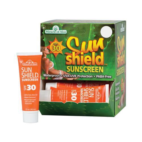 Miracle Of Aloe 48051 Sun Shield Sunscreen SPF 30, 1-oz. - Quantity 12