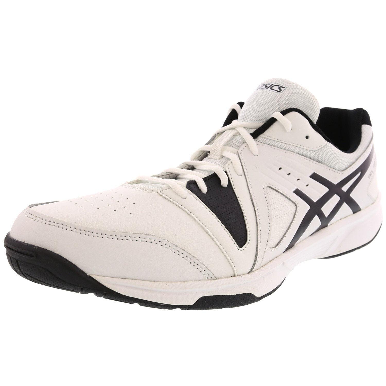 ASICS Asics Men's Gel Gamepoint White Black Ankle High Leather Tennis Shoe 15M