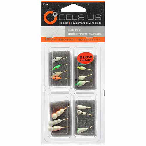 Celsius 14-Piece Ice Fishing Jig Kit, AFK8 by Ice Fishing Supplies