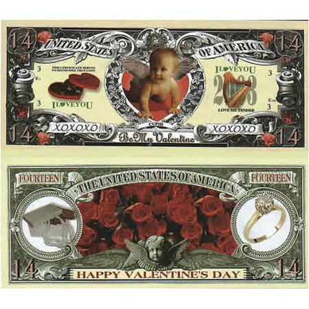 Set of 5 Bills-Valentines' Day Bill, By Novelties - Wholesale Novelties
