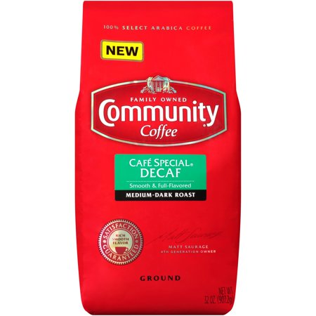 Community® Coffee Café Special® Decaf Medium-Dark Roast Ground Coffee 32 oz. Bag