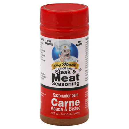 (2 Pack) chef merito carne asada meat seasoning 14