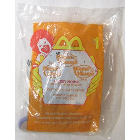 Happy Meal House of Mouse Mickey Mouse Soft Toy w/Melody #1 2001 by McDonald's, McDonalds Happy Meal toy By McDonalds Ship from US - Mcdonalds Halloween Toys