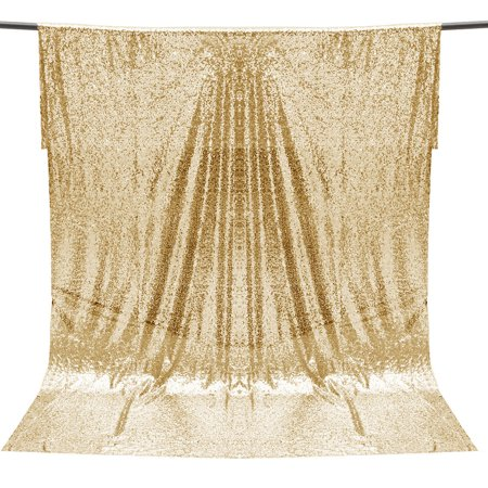 4x6ft Champagne Gold Sequins Backdrop Photography Background Photo Booth Backdrop Studio Curtain Home Wedding Party Decor](Photo Booth Curtains)