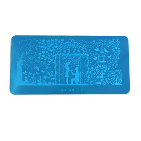 Stainless Steel Nail Art Stamping Plate Image Design Stamp Template