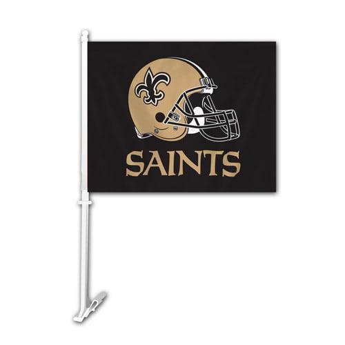 Fremont Die Inc New Orleans Saints Car Flag With Wall Brackett Car Flag
