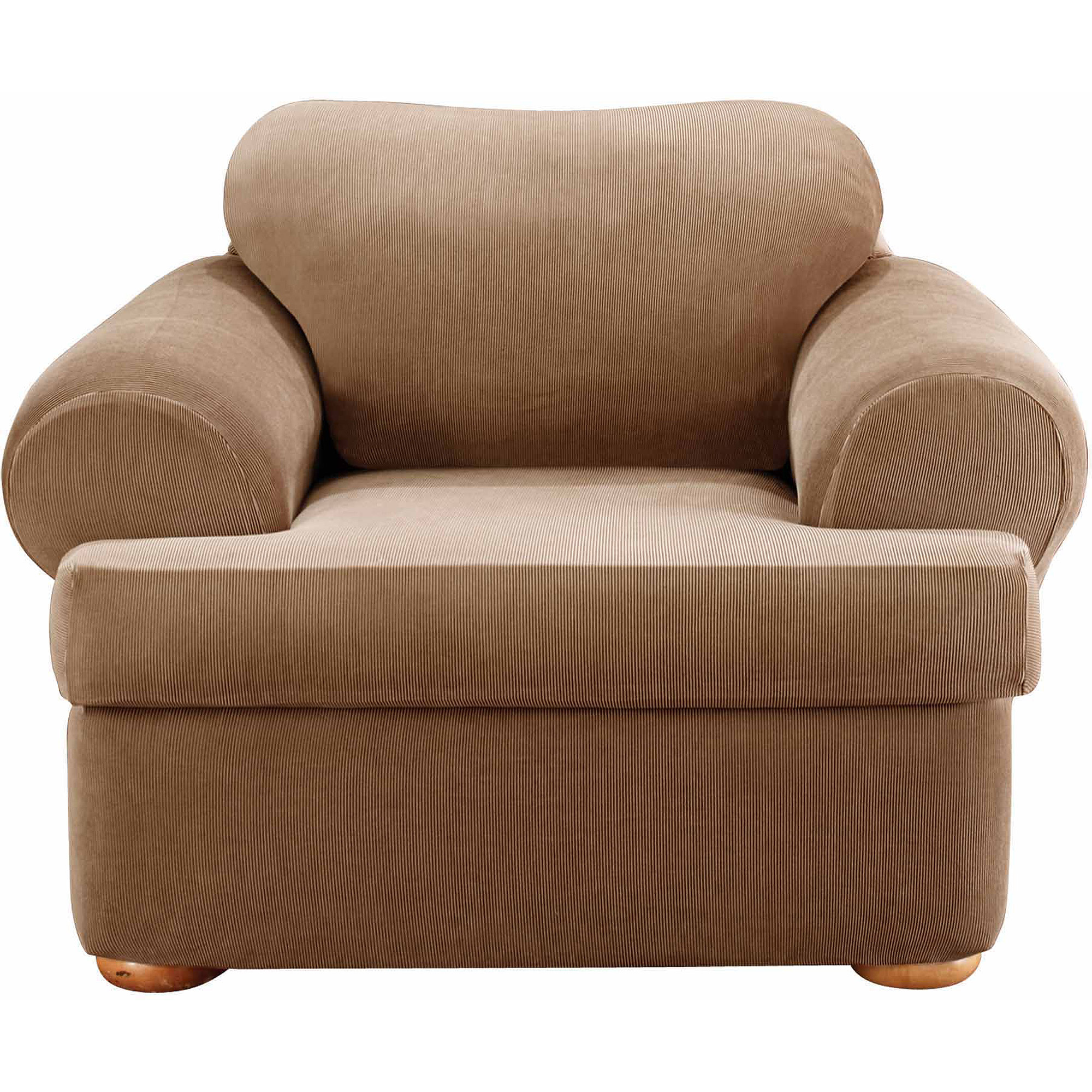 Sure Fit Stretch Stripe Separate Seat T-Cushion Chair Slipcover