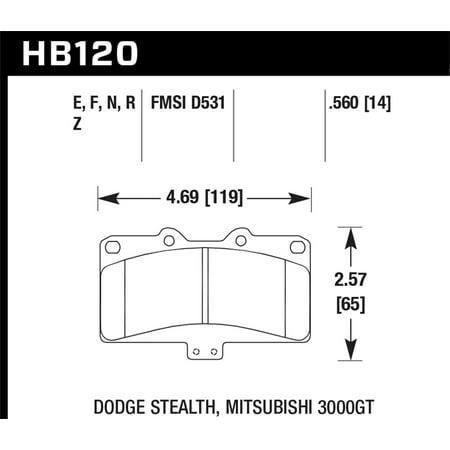 Hawk Mitsubishi 3000 GT VR4/ Dodge Stealth R/T 4WD HP+ Street Front Brake  Pads