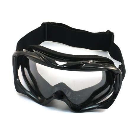 - Unique Bargains Cycling Winter Eye Wearing Clear Lens Protected Glasses Ski Goggles Black