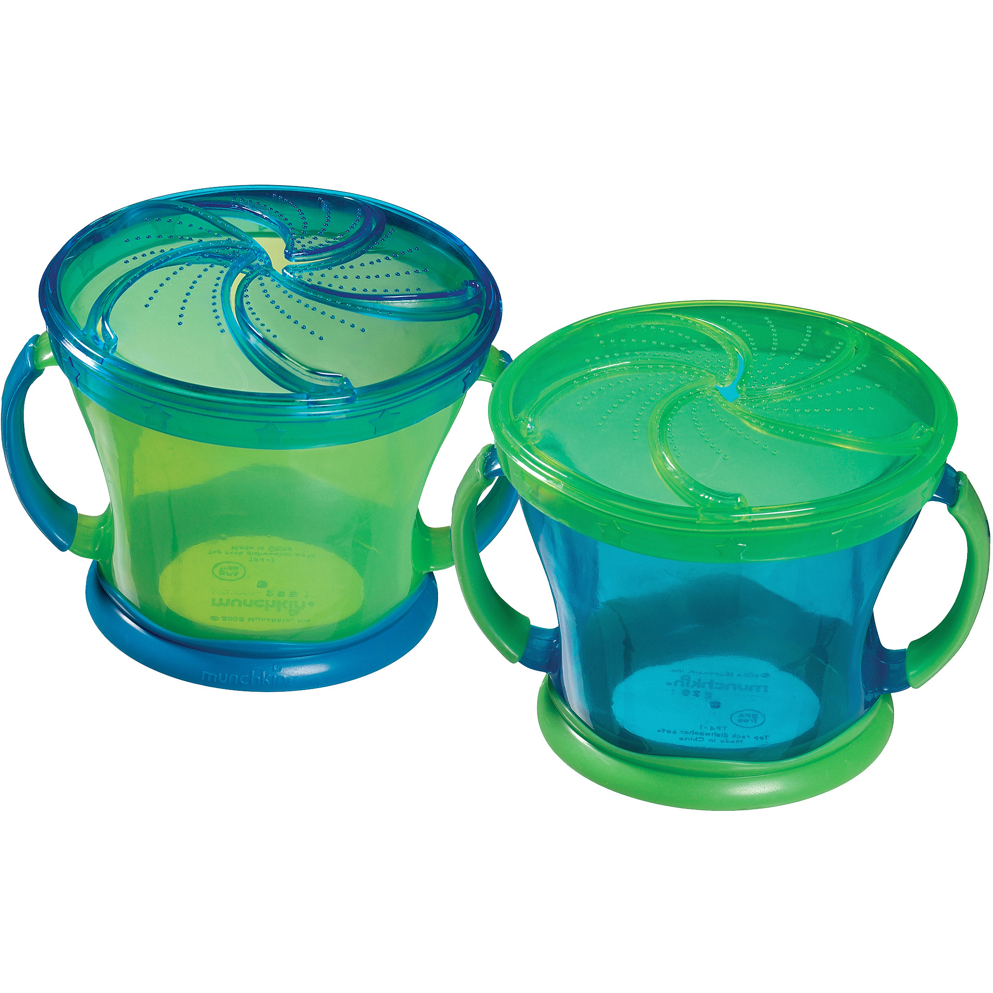 Munchkin Snack Catcher Snack Cup, Colors May Vary, 2 pack