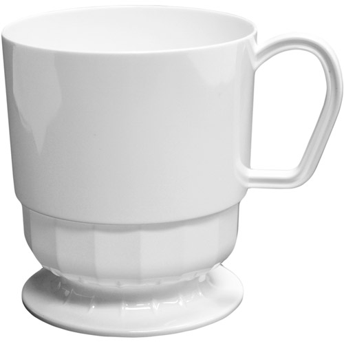 Disposable Coffee Mugs, White (Pack of 10)