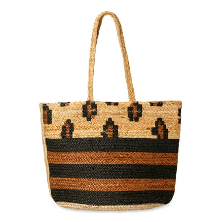 Magid Essential Jute Printed Tote Handbag Purse