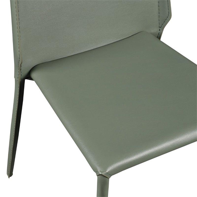 Eurostyle Alder Stacking Side Chair in Green (Set of 4) - image 2 de 6