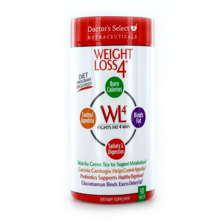 Doctor's Select Weight Loss 4 Dietary Supplement Tablets, 90 (Best Way To Lose Weight With Pcos)