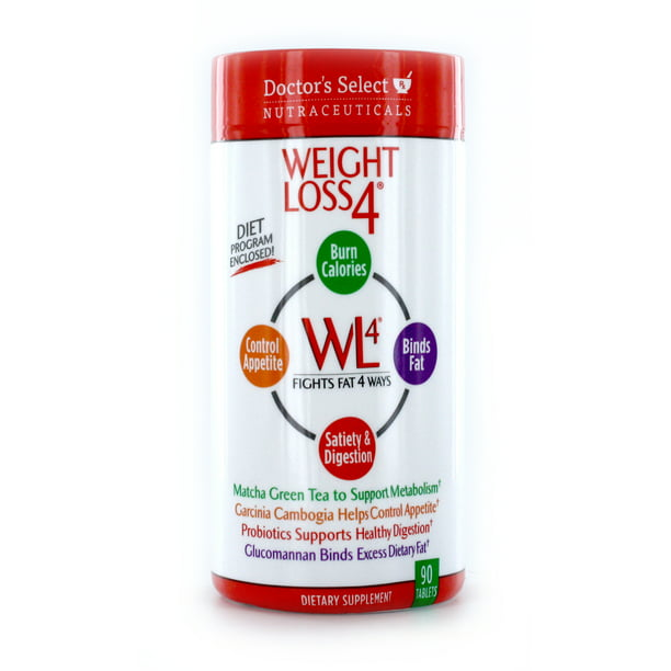 Doctor's Select Weight Loss 4 Supplement & Appetite Suppressant, 90 Tablets