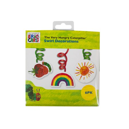 Talking Tables The Very Hungry Caterpillar Swirl Decoration (6pcs) - Caterpillar Decorations