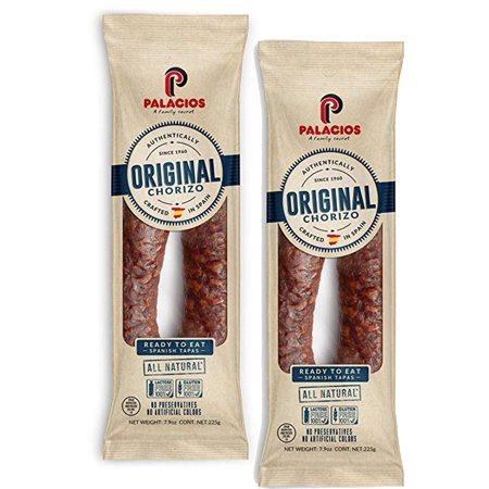 - Chorizo Palacios 7.9 oz Imported from Spain. Pack of 2