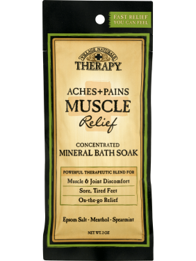 Village Naturals Therapy Aches & Pains Muscle Relief Mineral Bath Soak 2 Oz
