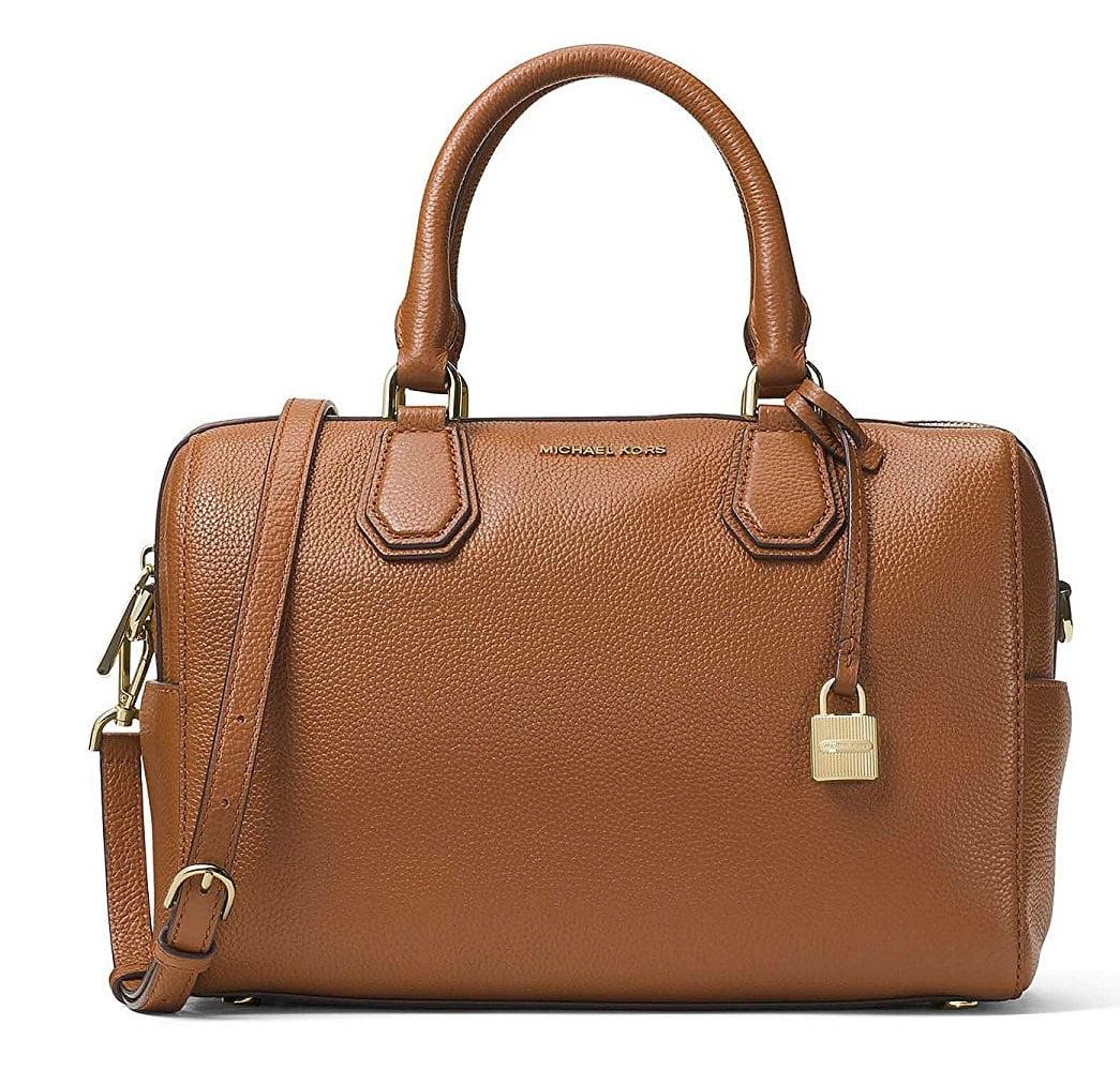 Michael Kors Mercer Medium Leather Duffle Bag Brown 30H6GM9U2L-230 by Michael Kors