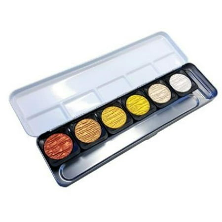 Finetec Artist Mica Watercolor Pearlescent Paint 6-Color Set