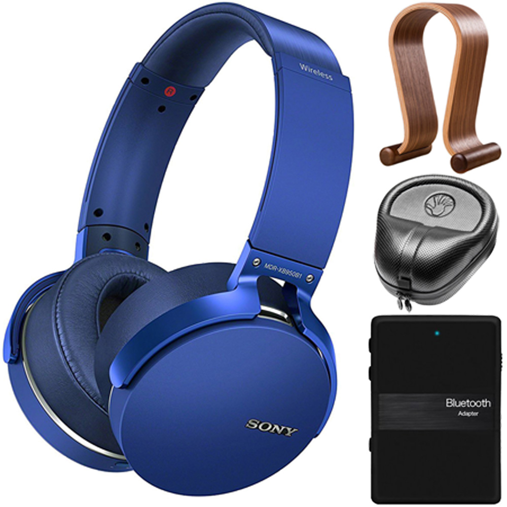 Sony XB950B1 Extra Bass Wireless Headphones with Accessories Kit (Blue) (2017)