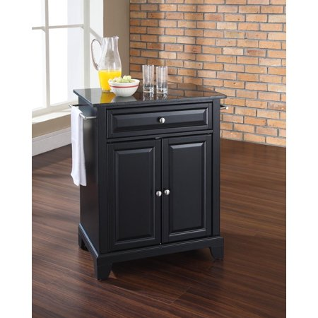 Newport Portable Kitchen Island Counter Top Solid Black