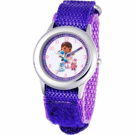 Disney Doc Mcstuffins Girls Stainless Steel Watch  Purple Strap