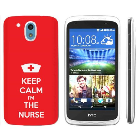[NakedShield] HTC Desire 526 [Clear] Ultra Slim TPU Phone Cover Case [Keep Calm and I'm The Nurse Print]