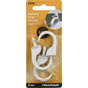 "Hillman White Safety Cup Hooks (1-1/4"") 3 Pack"