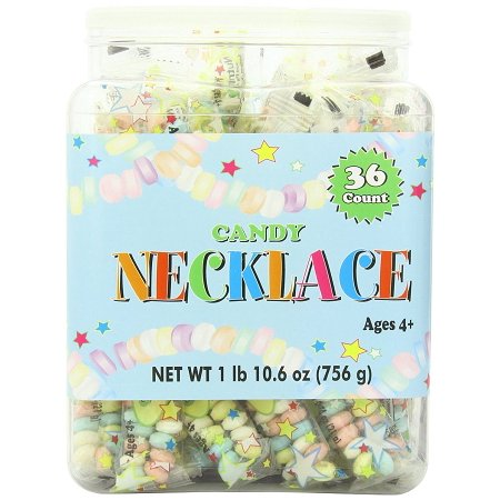 Candy Necklace, 1 Lb, 36 Ct 2 Lb Candy Tubs