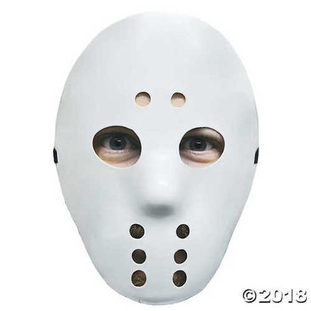 Hockey Style Face Mask (White Hockey Mask)