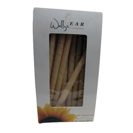 Wallys Ear Company All-Natural Candle, Beeswax - 2 Ea, 2 Pack