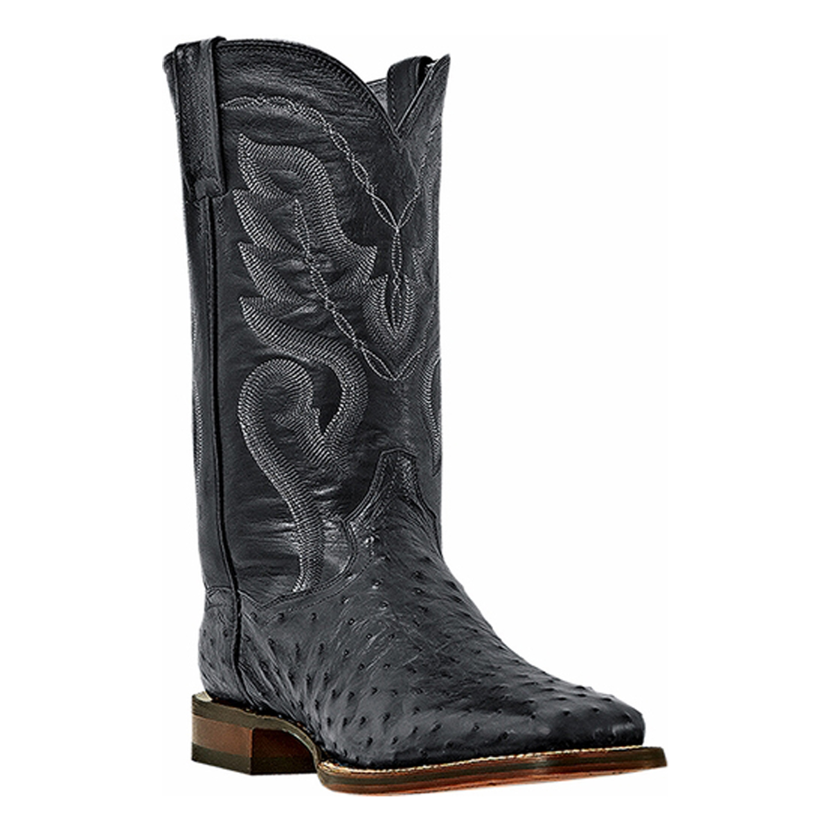 Dan Post Men's C C Black Full Quill Ostrich Chandler Western Boots DP2980 by Dan Post